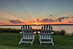 Stühle für zwei Stockbild
