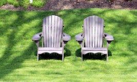 Stühle im Freien Lizenzfreies Stockfoto