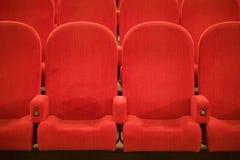 Stühle im Kino Stockbild