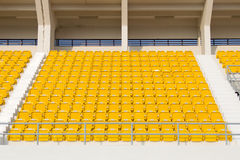 Stühle im Stadion Lizenzfreies Stockfoto
