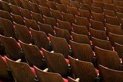 Stühle im Theater Lizenzfreie Stockbilder