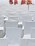 Stühle mit Abdeckungen Lizenzfreie Stockbilder