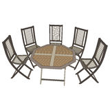 Stühle mit Ansicht der Tabelle 3d Lizenzfreie Stockfotografie