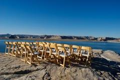Stühle in See Powell Stockbild