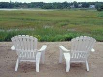 Stühle und Sumpf Stockfotos
