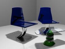 Stühle und Tabelle Stockfotos