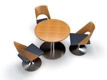 Stühle und Tabelle Stockbild