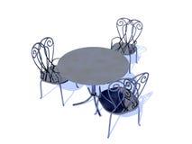 Stühle und Tabelle Stockfotografie