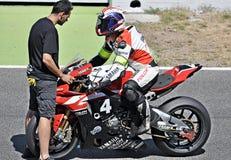 24-stündiges Motorradfahren Katalonien-Spanien Lizenzfreie Stockbilder