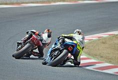 24-stündiges Motorradfahren Katalonien-Spanien Stockbild
