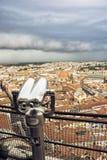 Stürmen Sie über der Florenz-Stadt, Toskana, Italien Lizenzfreie Stockfotos
