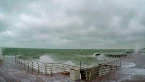 Stürmen Sie auf dem Schwarzen Meer stock footage