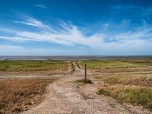 Stürmen Sie Flutspalte im Wadden-Meer von der Insel Mando, Denma Lizenzfreies Stockfoto