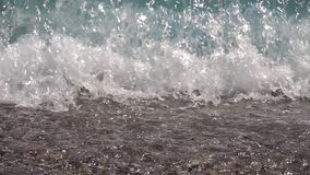 Stürmische Meere bei schlechtem Wetter Langsame Bewegung stock video