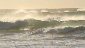 Stürmische Wellen stock footage