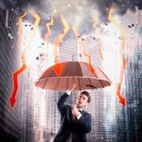 Stürmische Wirtschaftskrise Stockbilder