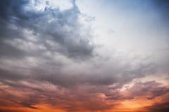 Stürmische Wolken, abstrakter Hintergrund Stockfotografie