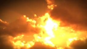 Stürmische Wolken des Sonnenuntergangc$zeit-versehens, Gesamtlänge auf Lager stock abbildung