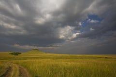 Stürmische Wolken im Mara Lizenzfreies Stockfoto