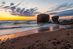 Stürmischer baltischer Sonnenuntergang Lizenzfreies Stockfoto