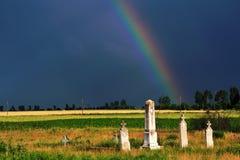 Stürmischer Friedhof Stockfotografie