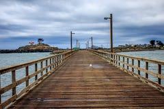 Stürmischer Kalifornien-Pier stockbild