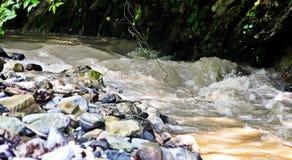 Stürmischer kleiner Gebirgsfluss Stockbilder