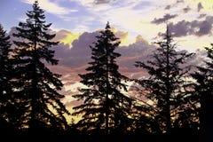 Stürmischer Sonnenuntergang Stockfoto