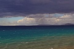 Stürmischer Tag in dem Meer Lizenzfreies Stockbild