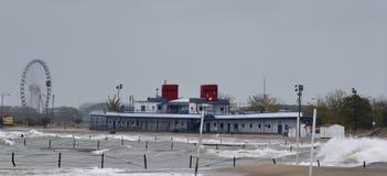 Stürmischer Tag an der Badeanstalt Lizenzfreie Stockfotos