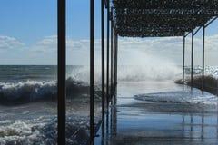 Stürmisches Meer Stockfoto