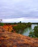 Stürmisches Riverland Stockbild