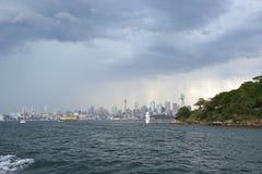 Stürmisches Sydney Lizenzfreie Stockfotos