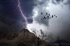 Stürmisches Wetter in den Bergen Stockfotografie