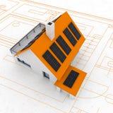 stützbarer Hausplan Lizenzfreie Stockbilder