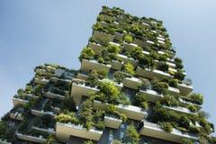Stützbares grünes Gebäude lizenzfreie stockbilder