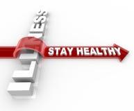 Stütze gesund - Wörter, die über Krankheit springen Stockbilder