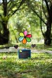 Stützen für Picknicks am Garten stockfotografie
