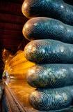 Stützender Buddha in Wat Pho Thailand Stockfotografie