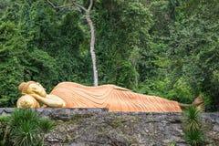 Stützender goldener Buddha Lizenzfreie Stockbilder