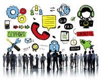 Stützhilfslösungs-Sorgfalt-Zusammenarbeits-Unterstützungs-Zusammengehörigkeit Stockbild