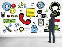 Stützhilfssorgfalt-Zusammenarbeits-Unterstützungs-Zusammengehörigkeits-Konzept Lizenzfreie Stockfotos