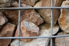 Stützmauer des Hintergrundgranits Stockfoto