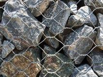 Stützmauer-Hintergrund Gabion Lizenzfreie Stockfotos