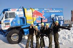 Stützungskonsortium von fünf Mädchen Stockfoto