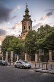 St'迈克尔大教堂教会在贝尔格莱德 库存图片