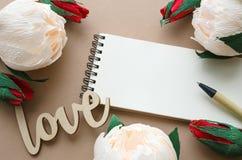 St与花的情人节卡片 库存图片