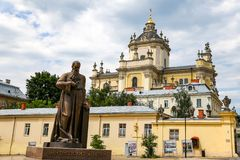 St乔治大教堂在利沃夫州,乌克兰 库存照片