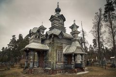 St亚历山大・涅夫斯基东正教在陶格夫匹尔斯 免版税库存照片