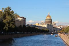 St以撒的大教堂圣徒彼得斯堡俄罗斯 库存照片